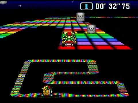 【悲報】マリオカートのレインボーロード、難しすぎる