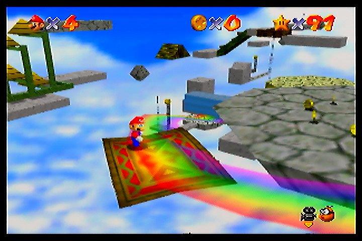 マリオ64に空飛ぶじゅうたんのステージあったよな