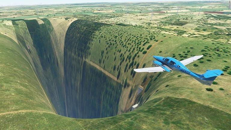 【画像】『MSフライトシミュレーター』ブラジルに大穴が開くバグ発生