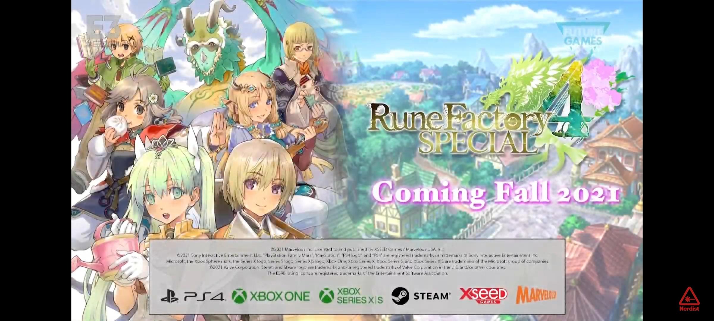 『ルーンファクトリー4SP』PS4/XboxOne/Steamで秋に発売決定!