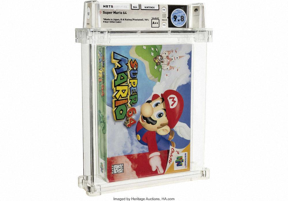 『スーパーマリオ64』の未開封品が約1億7200万円で落札される